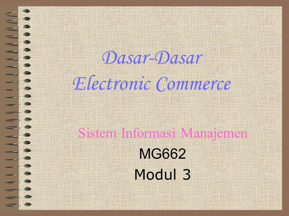 Dasar-Dasar Electronic Commerce Sistem Informasi Manajemen MG662 Modul 3
