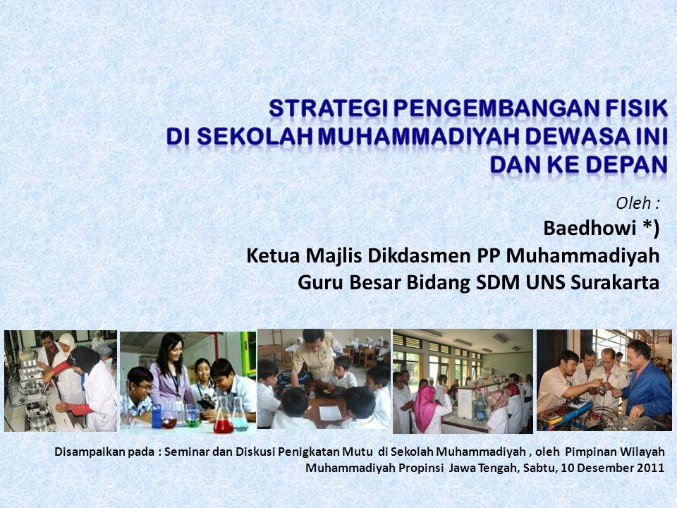 Oleh : Baedhowi *) Ketua Majlis Dikdasmen PP Muhammadiyah Guru Besar Bidang SDM UNS Surakarta Disampaikan pada : Seminar dan Diskusi Penigkatan Mutu d