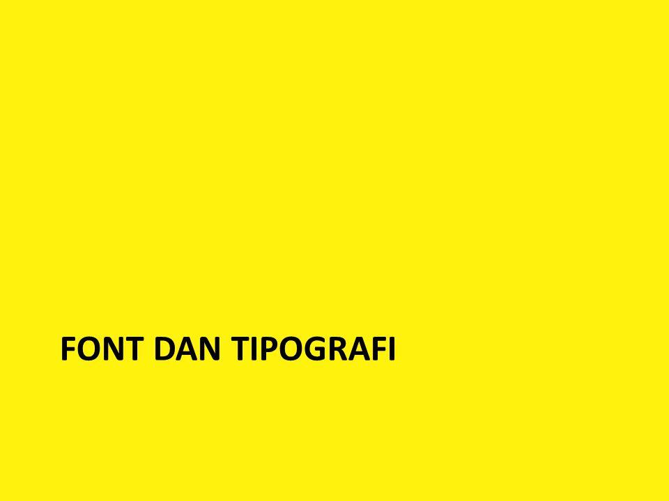 FONT DAN TIPOGRAFI