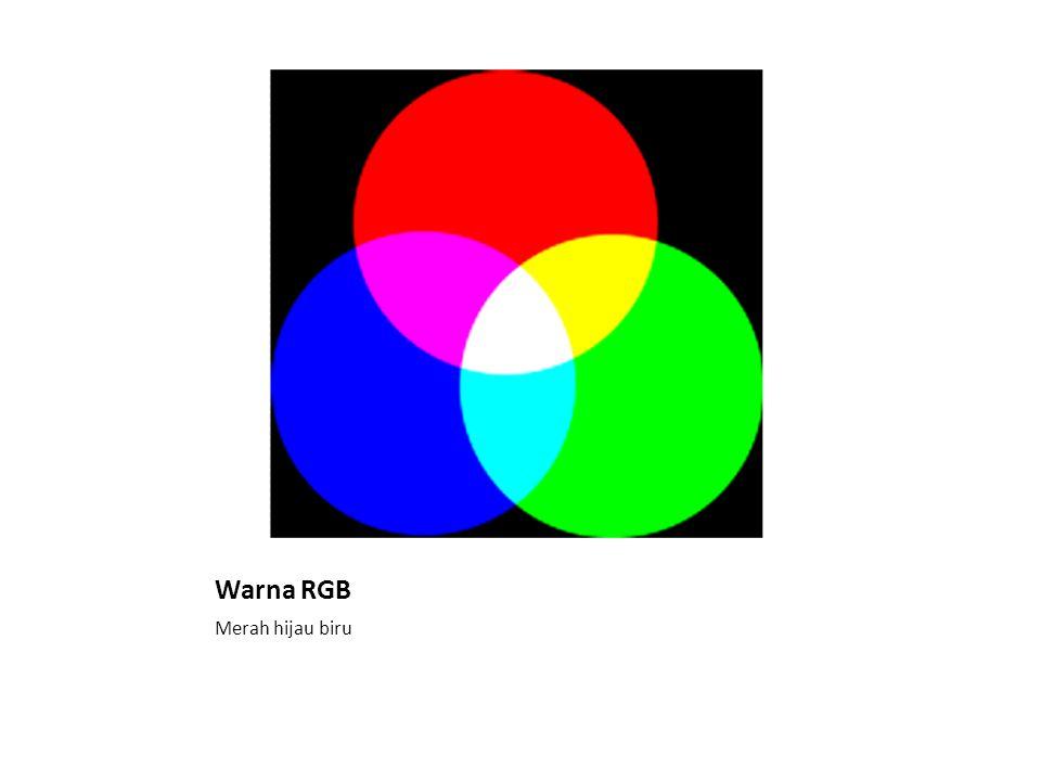 Warna RGB Merah hijau biru