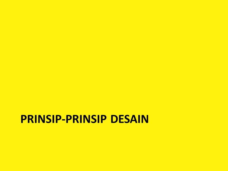 PRINSIP-PRINSIP DESAIN