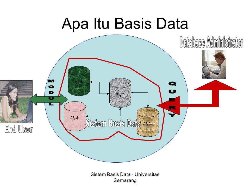 Sistem Basis Data - Universitas Semarang Apa Itu Basis Data file1 file2 file3 file4