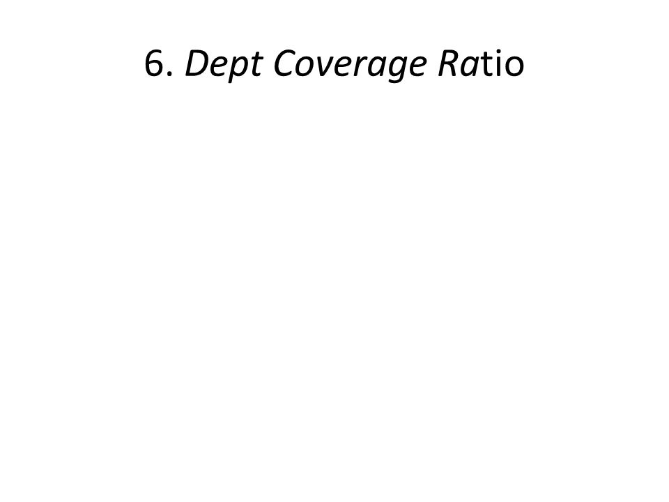 6. Dept Coverage Ratio