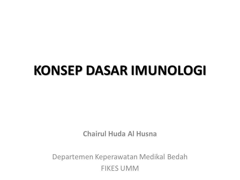 KONSEP DASAR IMUNOLOGI Chairul Huda Al Husna Departemen Keperawatan Medikal Bedah FIKES UMM