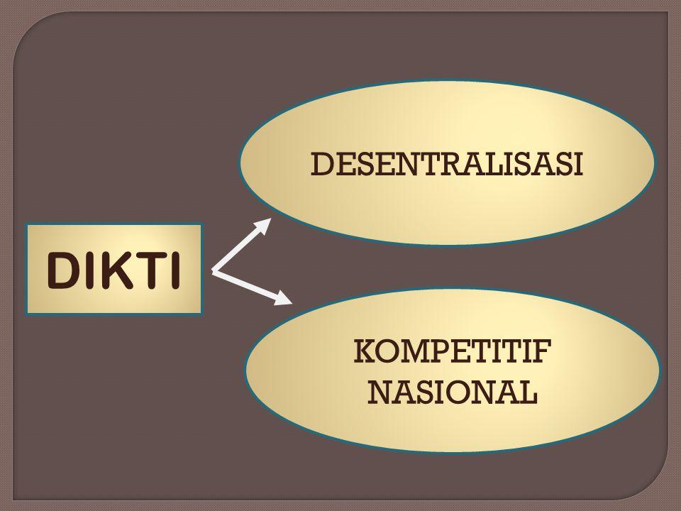 DESENTRALISASI KOMPETITIF NASIONAL DIKTI