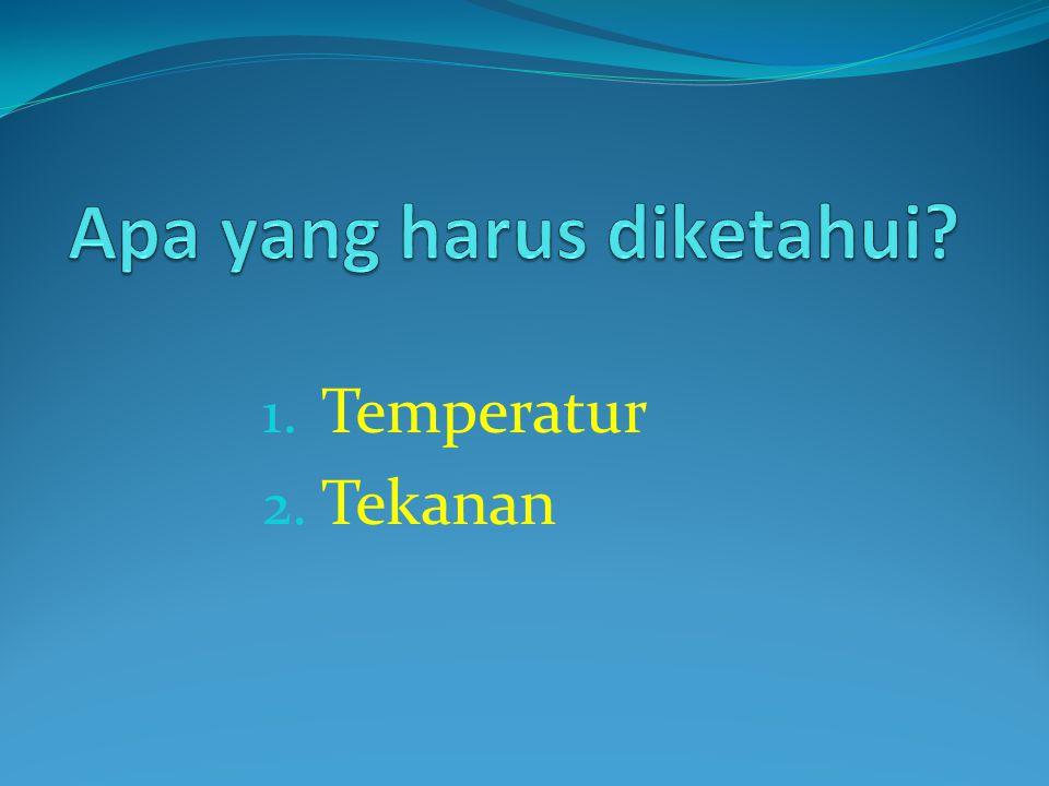 1. Temperatur 2. Tekanan