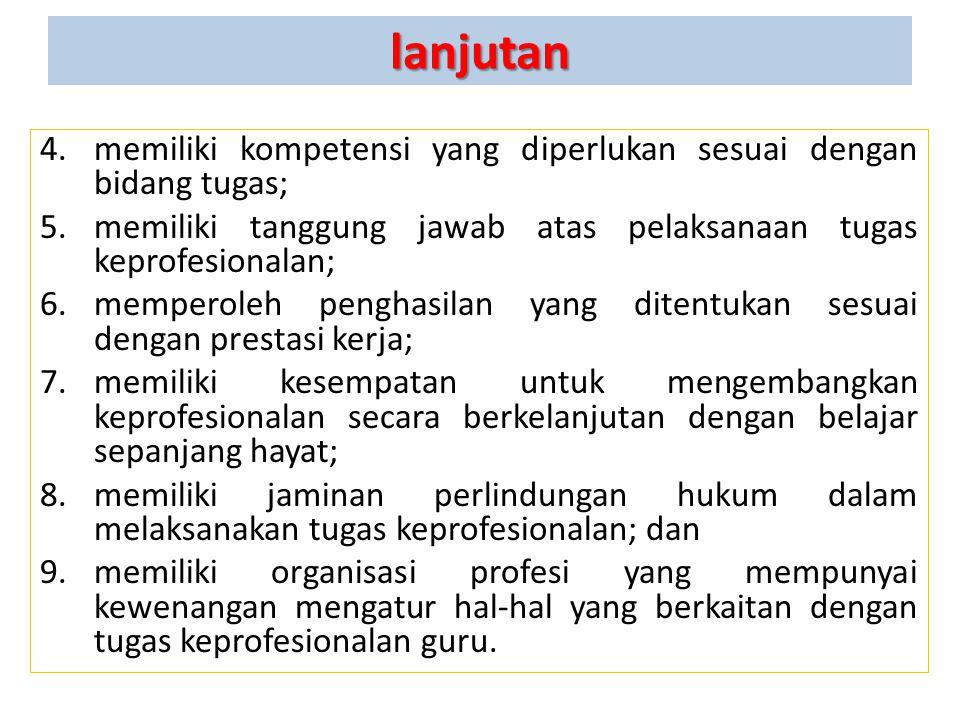 PRINSIP PROFESIONALITAS (UUGD Pasal 7) Profesi guru merupakan bidang pekerjaan khusus yang dilaksanakan berdasarkan prinsip sebagai berikut: 1.memilik