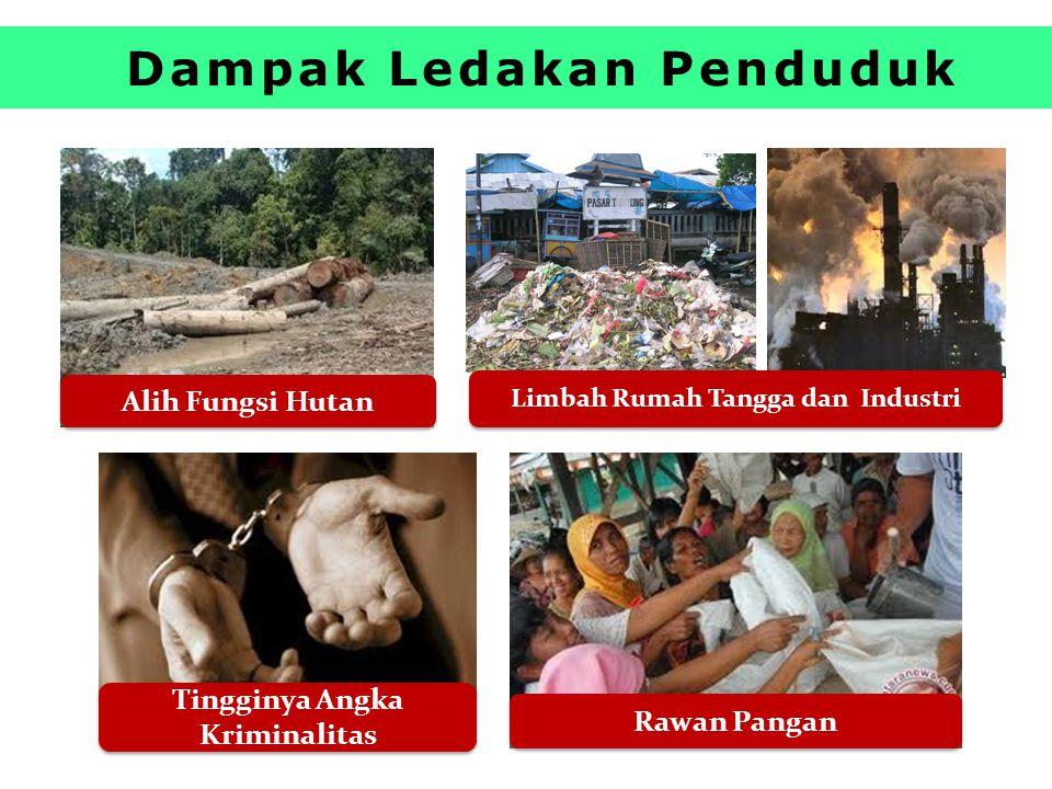 Dampak Ledakan Penduduk Tingginya Angka Kriminalitas Limbah Rumah Tangga dan Industri Rawan Pangan Alih Fungsi Hutan
