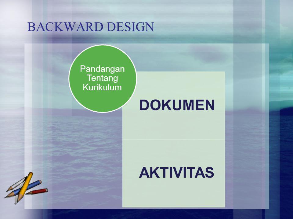 BACKWARD DESIGN DOKUMEN AKTIVITAS Pandangan Tentang Kurikulum