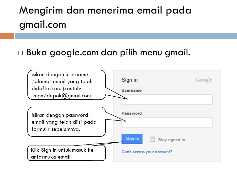 Mengisi formulir untuk pendaftaran e-mail 11. Ketikkan karakter yang terlihat pada gambar 12. Klik kotak untuk menceklist 13. Klik saya menerima untuk