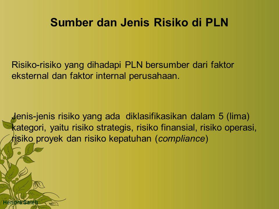 Sumber dan Jenis Risiko di PLN Risiko-risiko yang dihadapi PLN bersumber dari faktor eksternal dan faktor internal perusahaan. Jenis-jenis risiko yang