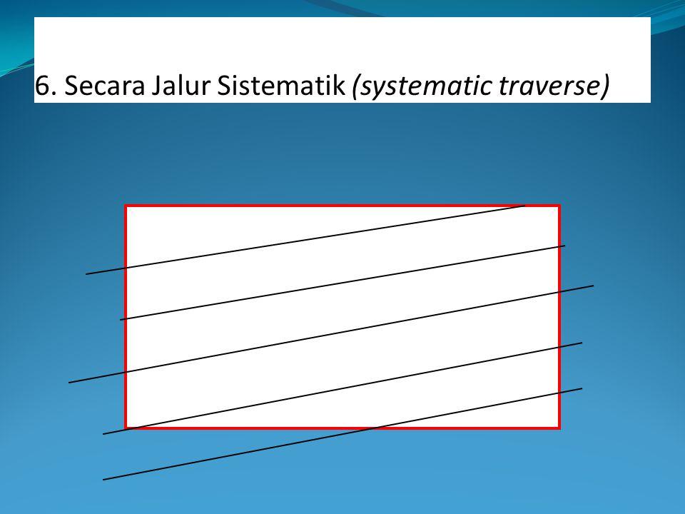 6. Secara Jalur Sistematik (systematic traverse)