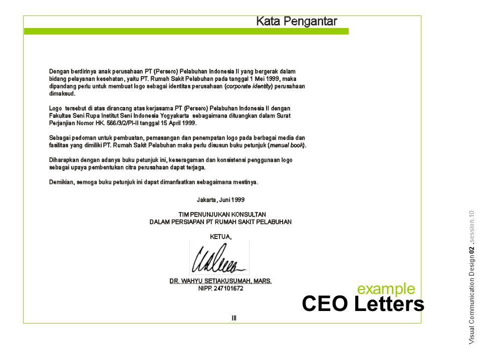 example Visual Communication Design 02.session.10 CEO Letters