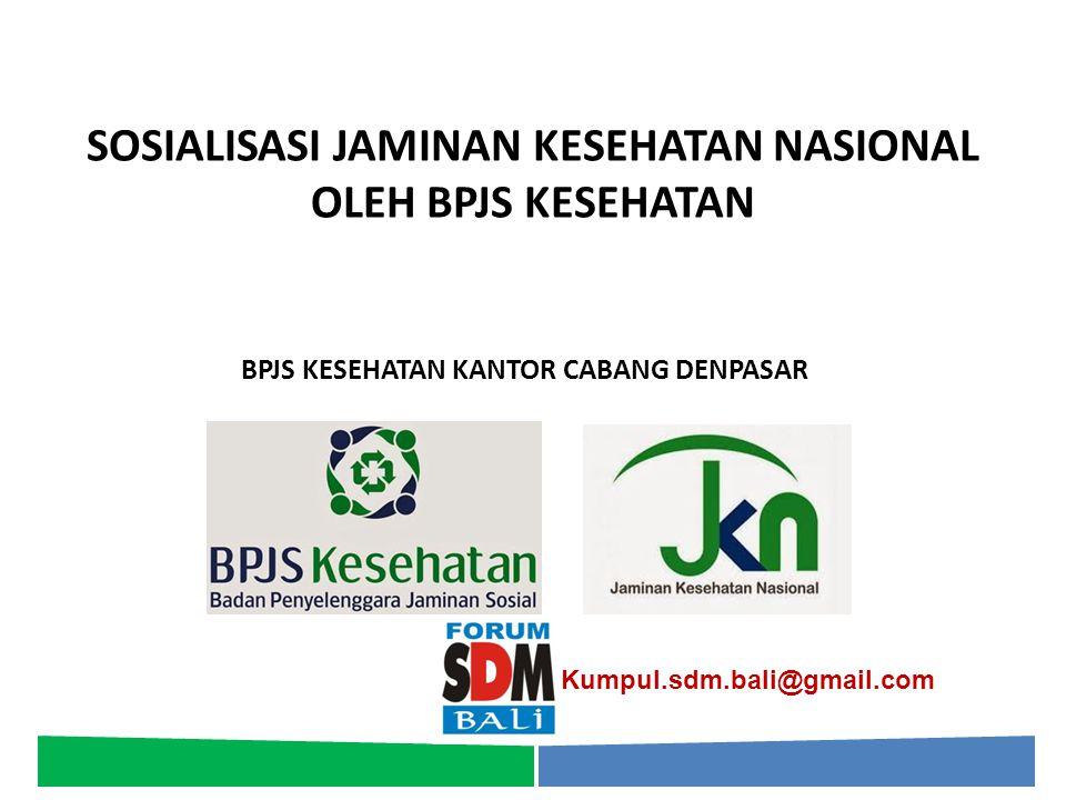 Pelayanan Kesehatan yang Dijamin Pelayanan Kesehatan Tingkat Pertama (RJTP dan RITP) Pelayanan Kesehatan Rujukan Tingkat Lanjutan (RJTL dan RITL) Pelayanan Kesehatan Lain yang ditetapkan oleh Menteri