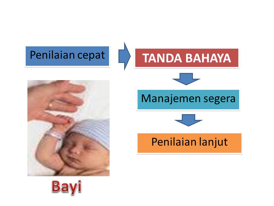 Penilaian cepat Letakkan bayi pada permukaan yang hangat & cahaya cukup PERIKSA TANDA BAHAYA :  Megap megap (merintih) / tidak bernapas / RR < 20 kali/mnt  Perdarahan  kejang  Syok ( pucat, dingin, HR > 180 x/mnt  penurunan kesadaran
