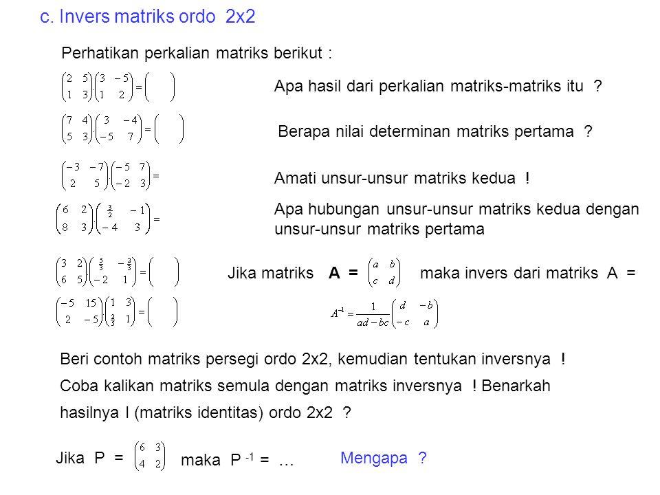 Selesaikan persamaan linear tiga variabel berikut dengan cara tadi ! 2x + 3y – z = 4 x – 2y + 3z = 9 3x + y - 2z = 1  Himpunan Penyelesai = H.P = {(2