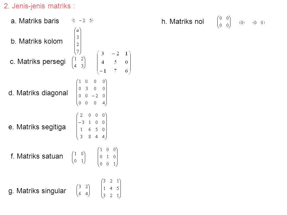 Penggunaan determinan untuk menyelesaikan persamaan linear.