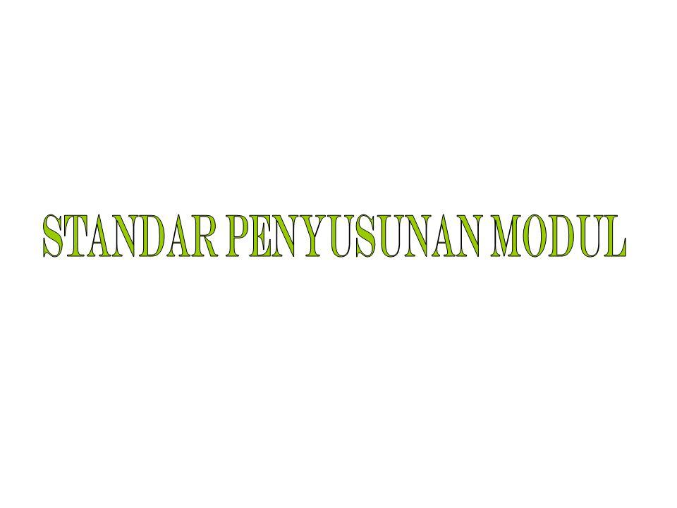 RAGAM MODUL MODUL TINGKAT DASAR MODUL TINGKAT MENENGAH MODUL TINGKAT LANJUT PENYAJIAN MATERIPENDALAMAN MATERI EVALUASI HASIL/PROSES Umum/ilustrasi (attractiveness) Sfesisik/bahasan (fluency); Analisis INFORMATIF TransformatifKecermatan/ Acuratif KETERBACAAN (readability) Bahasan (fluency) ketepatan (matching)