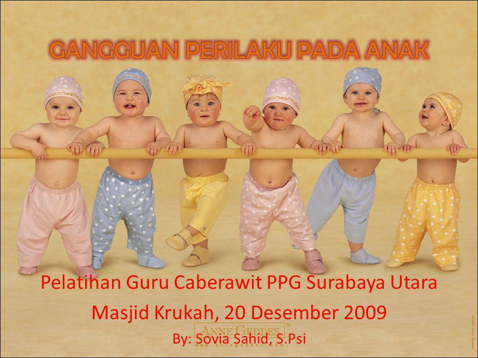Pelatihan Guru Caberawit PPG Surabaya Utara Masjid Krukah, 20 Desember 2009 By: Sovia Sahid, S.Psi