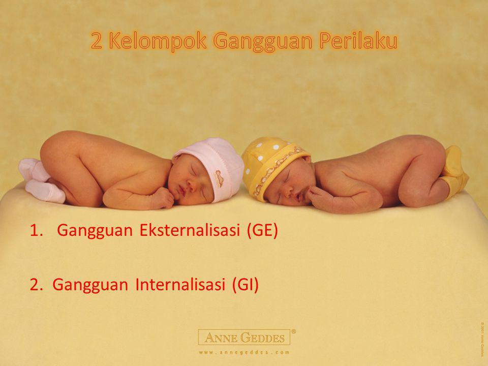 1.Gangguan Eksternalisasi (GE) 2. Gangguan Internalisasi (GI)
