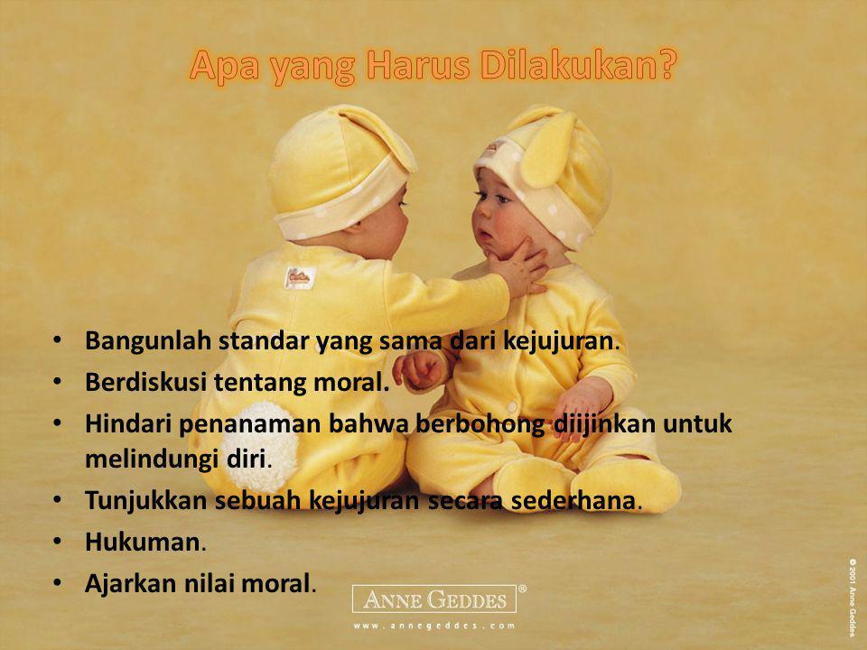 Bangunlah standar yang sama dari kejujuran.Berdiskusi tentang moral.