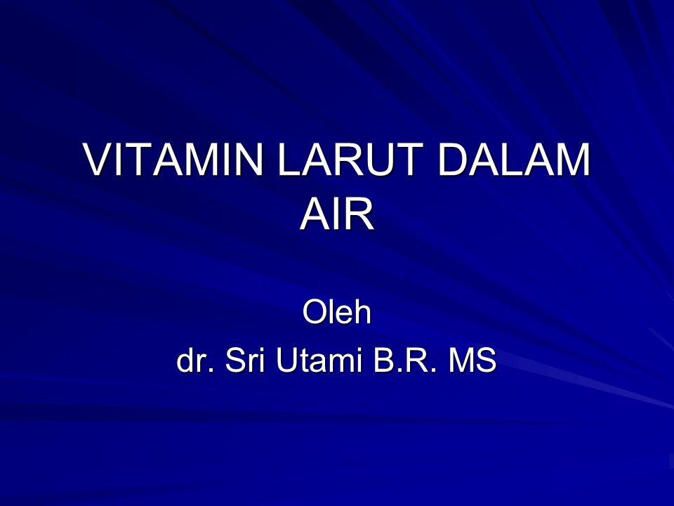 VITAMIN LARUT DALAM AIR Oleh dr. Sri Utami B.R. MS