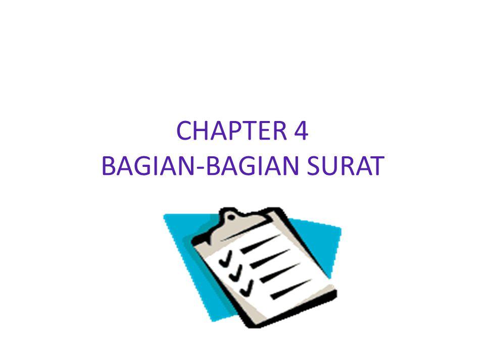 CHAPTER 4 BAGIAN-BAGIAN SURAT