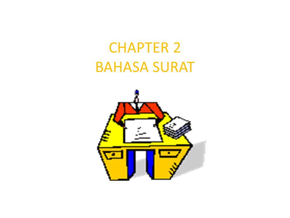 CHAPTER 2 BAHASA SURAT