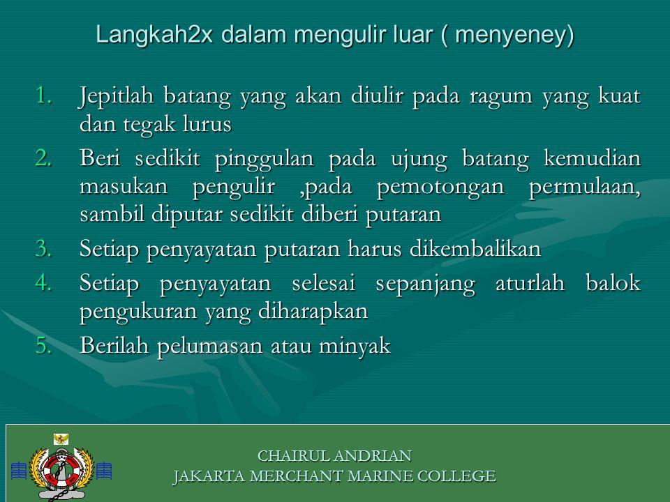 0 CHAIRUL ANDRIAN JAKARTA MERCHANT MARINE COLLEGE