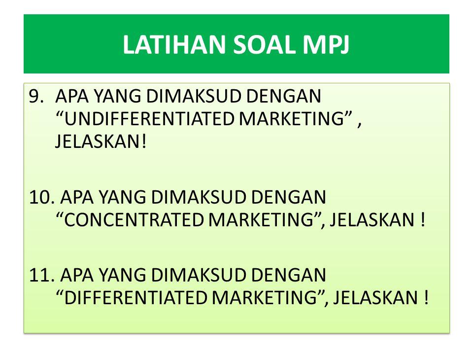 LATIHAN SOAL MPJ 12.HYBRID ADALAH SALAH SATU CARA CHANNEL OF DISTRIBUTION.
