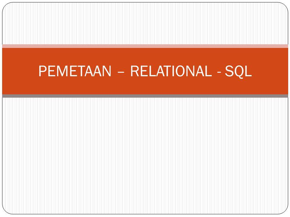 Step 5: Mapping of Binary M:N Relationship Jika ada dua buah entity misalnya S dan T yang memiliki relasi M:N, maka buatlah skema relasi baru yang isinya adalah primary key dari S dan T serta semua simple attribut yang berada pada relasi tersebut.