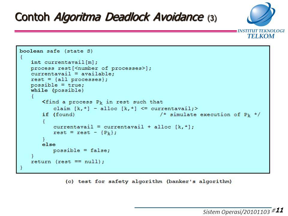 Contoh Algoritma Deadlock Avoidance (3) # 11 Sistem Operasi/20101103