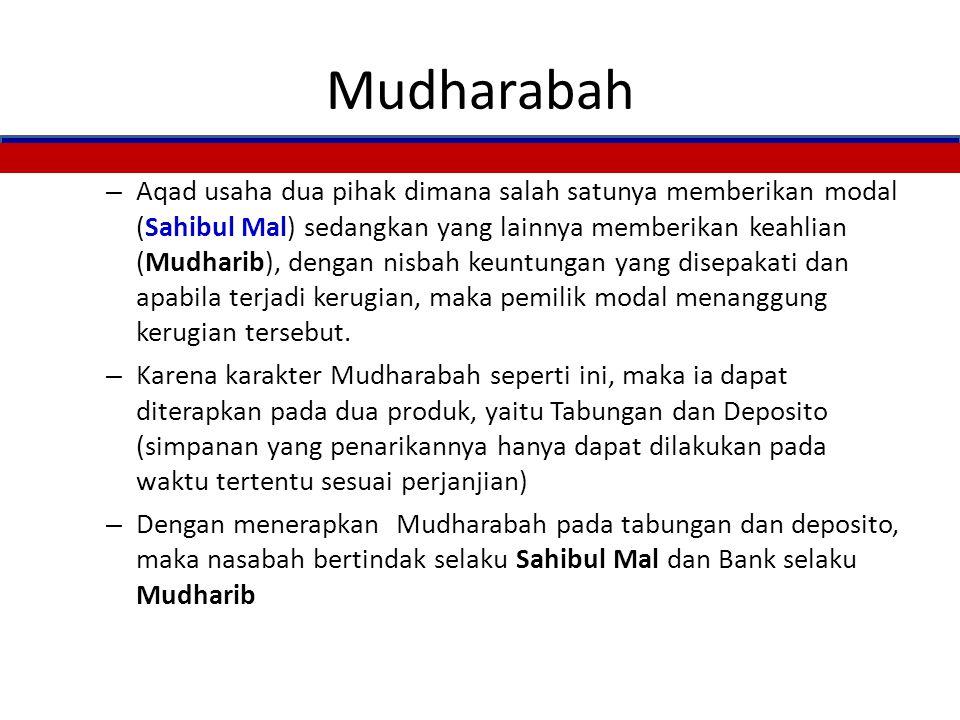 Rukun Wadiah Penitip / pemilik barang / harta (muwaddi') Penerima titipan / orang yang menyimpan (mustawda') Barang / harta yang dititipkan Aqad / Ija