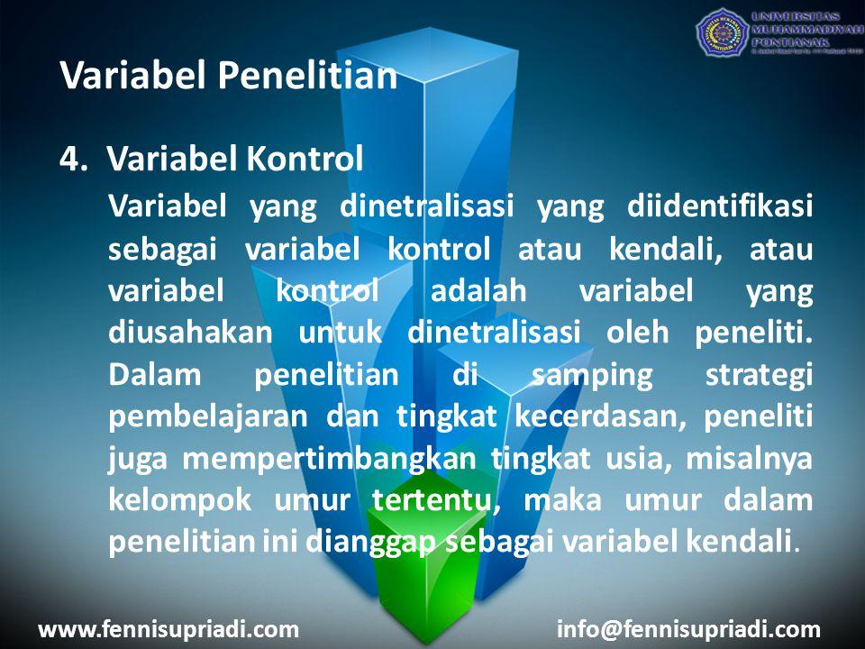 Variabel Penelitian 4.