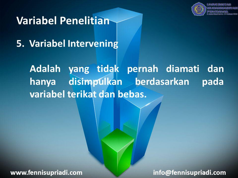 Variabel Penelitian 5.