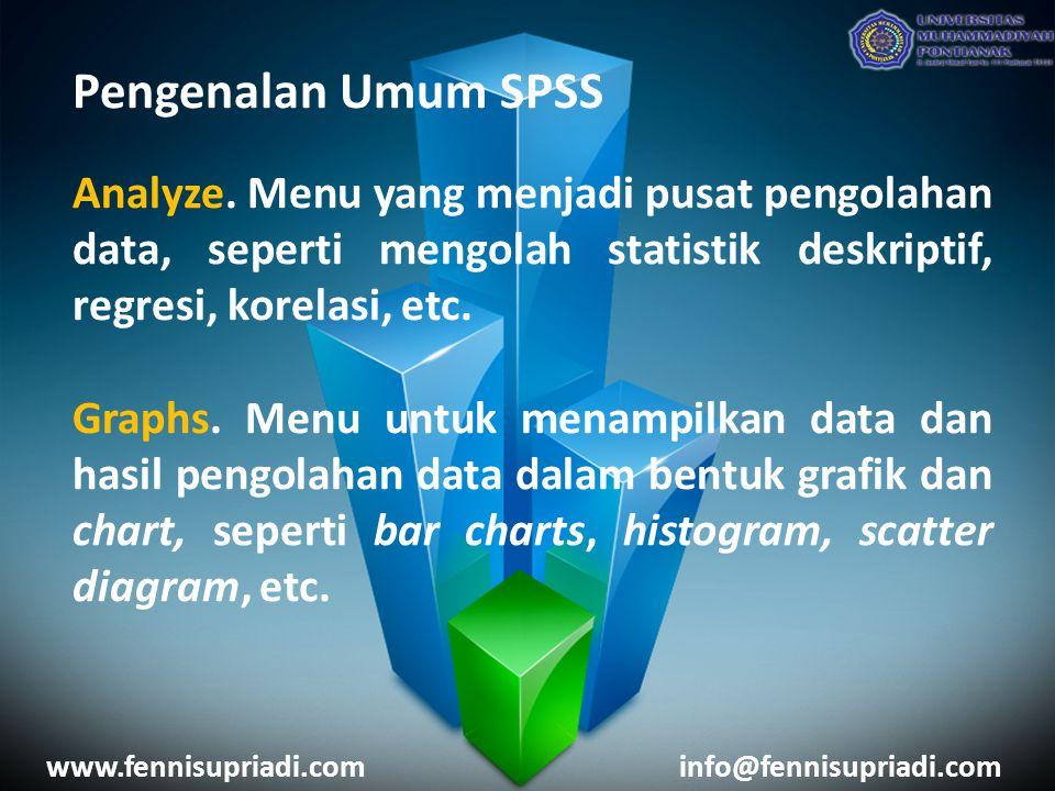 Pengenalan Umum SPSS Analyze.