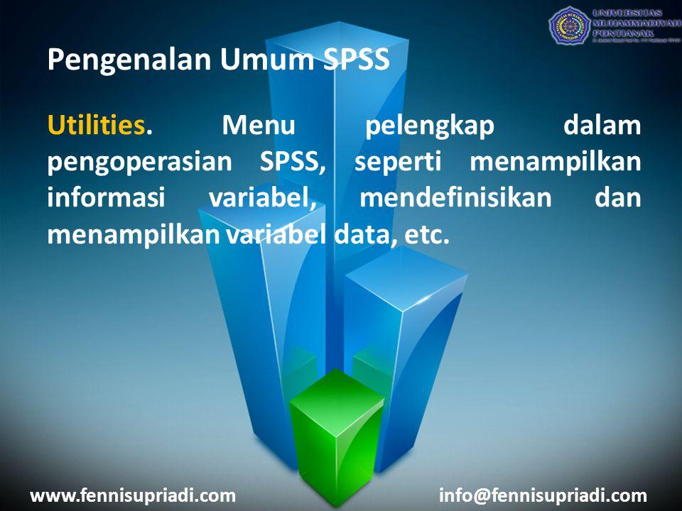 Pengenalan Umum SPSS Utilities.