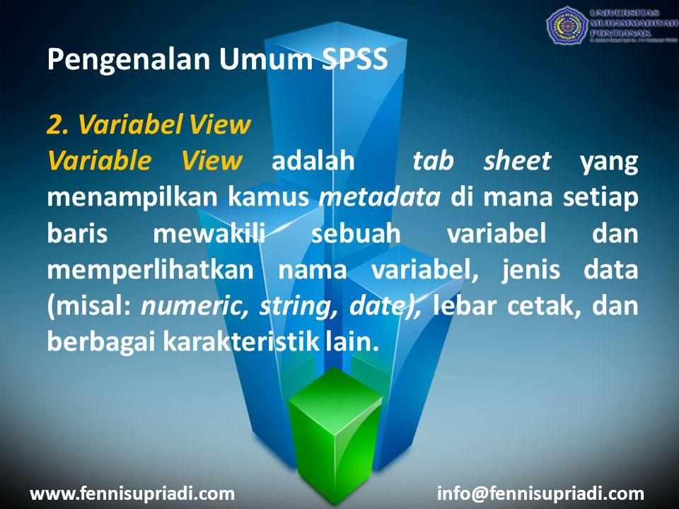 Pengenalan Umum SPSS 2.