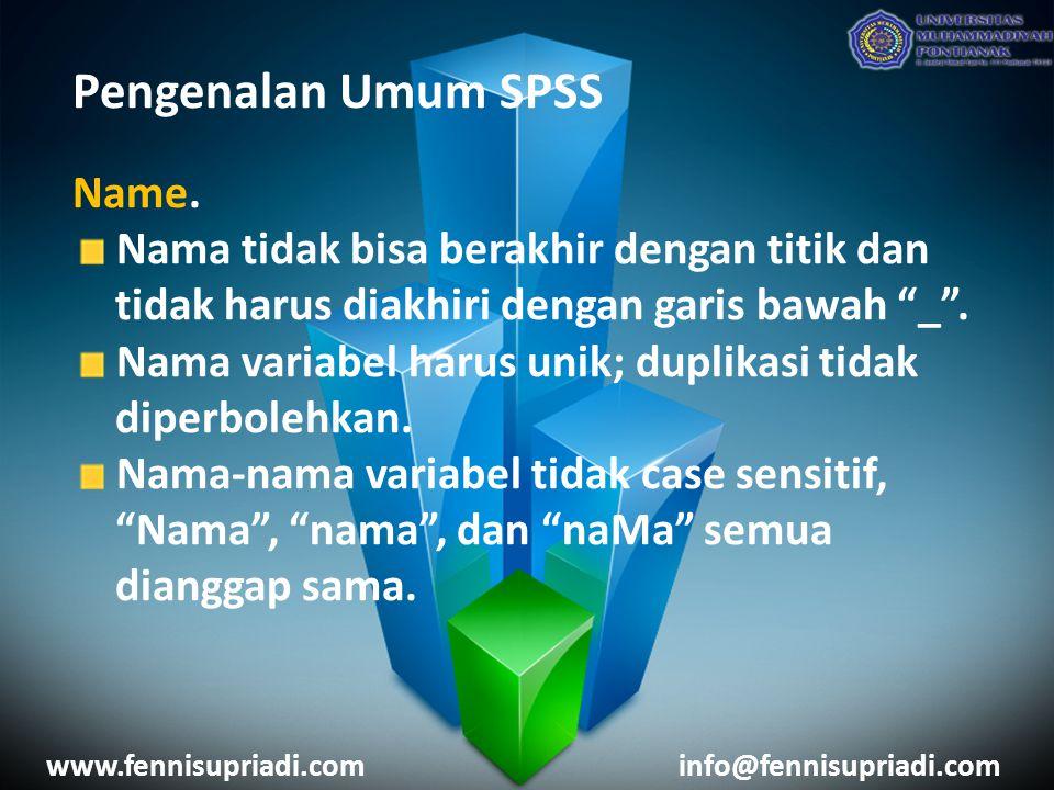 Pengenalan Umum SPSS Name.