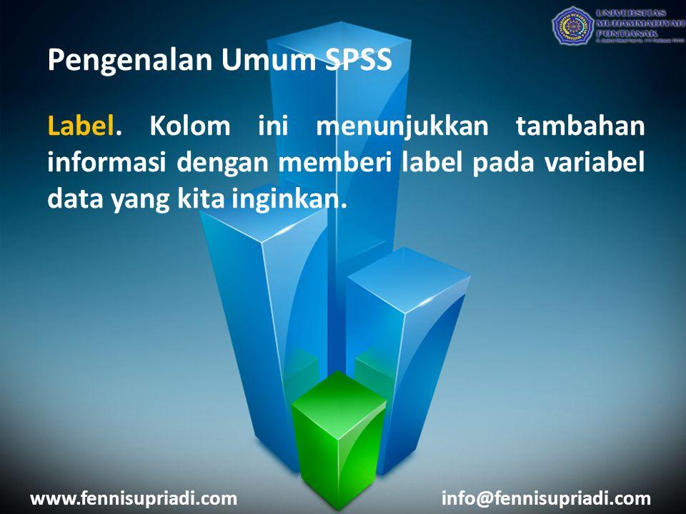 Pengenalan Umum SPSS Label.