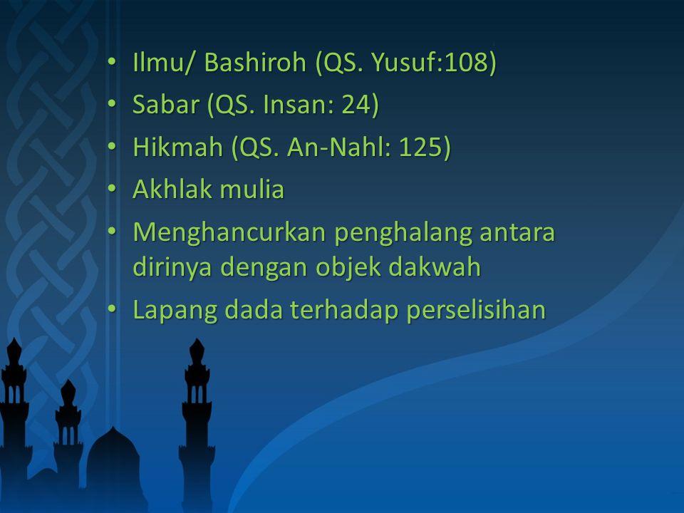 Ilmu/ Bashiroh (QS. Yusuf:108) Ilmu/ Bashiroh (QS.