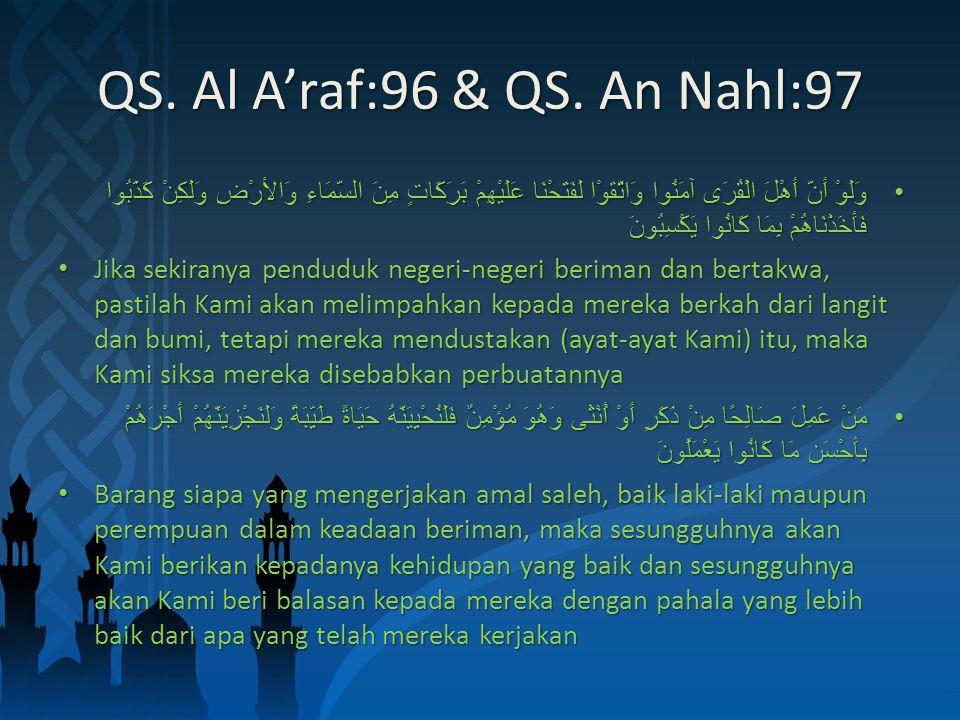 QS. Al A'raf:96 & QS.