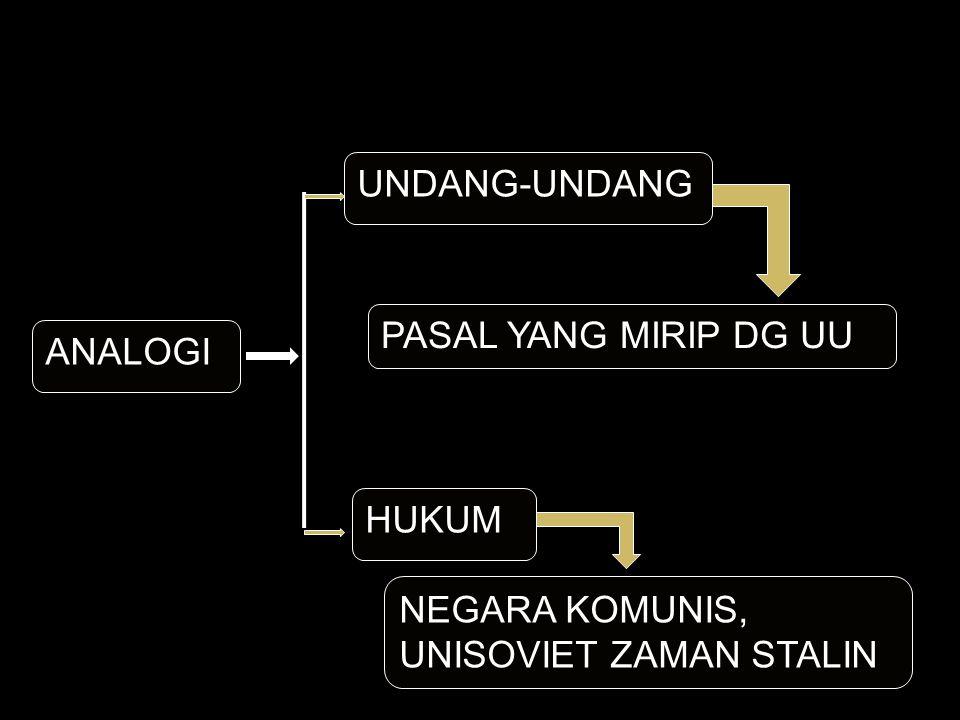 ANALOGI UNDANG-UNDANG HUKUM PASAL YANG MIRIP DG UU NEGARA KOMUNIS, UNISOVIET ZAMAN STALIN
