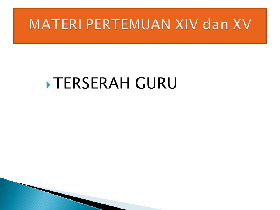  TERSERAH GURU