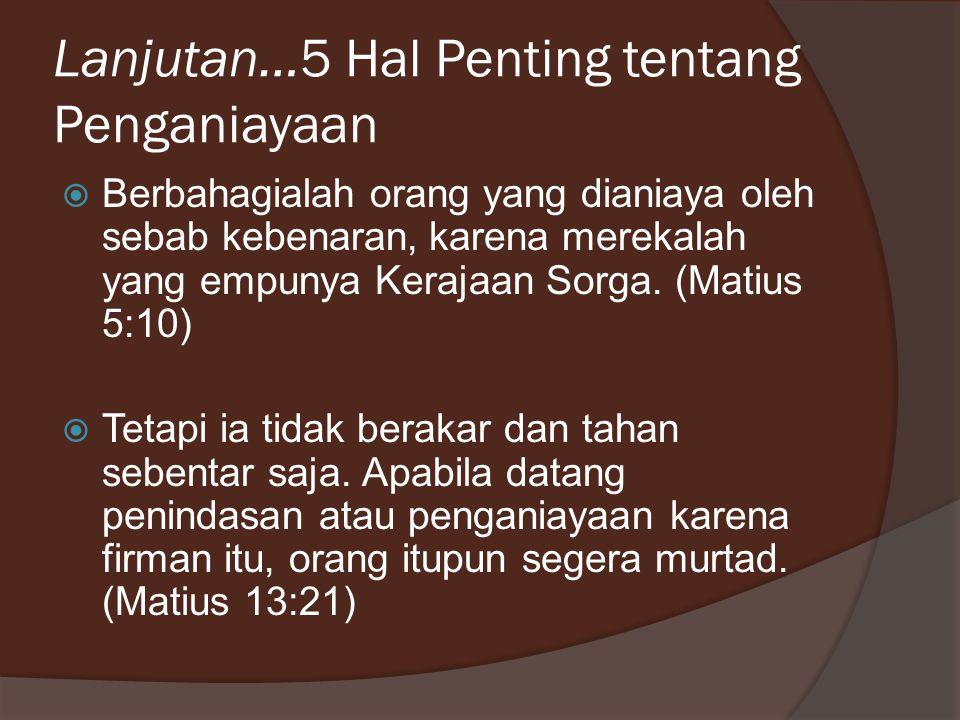 Penganiayaan: Paulus dan Silas Kisah 16:19-24