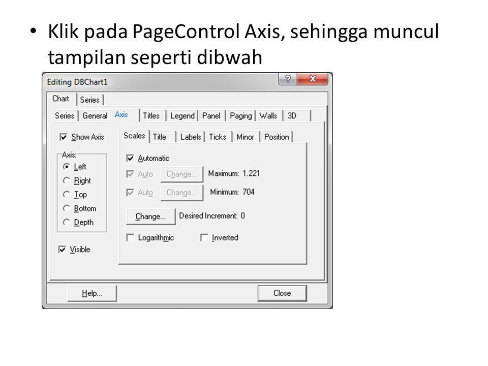 Klik pada PageControl Axis, sehingga muncul tampilan seperti dibwah