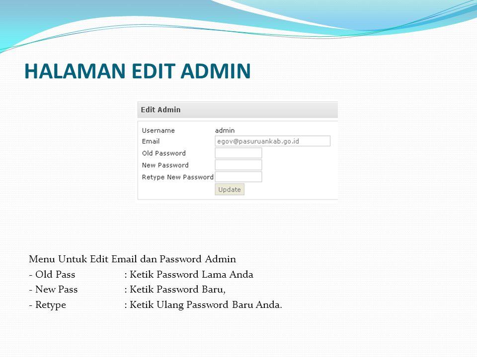 HALAMAN USER MANAGER - Pilih ADD USER, - Ketik Nama User Baru pada kolom User - Tulis Password User - Tulis Email User - Pilih Level User Baru (Administrator / User) - Pilih Status ( Aktif/Pasif) - Jika sudah selesai, Klik ADD.