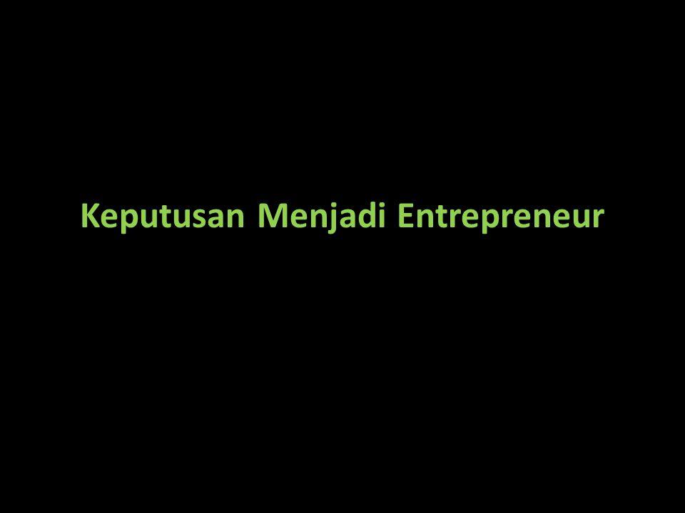 Keputusan Menjadi Entrepreneur