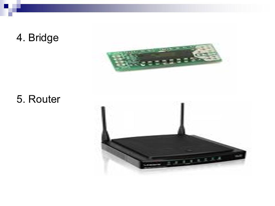 4. Bridge 5. Router