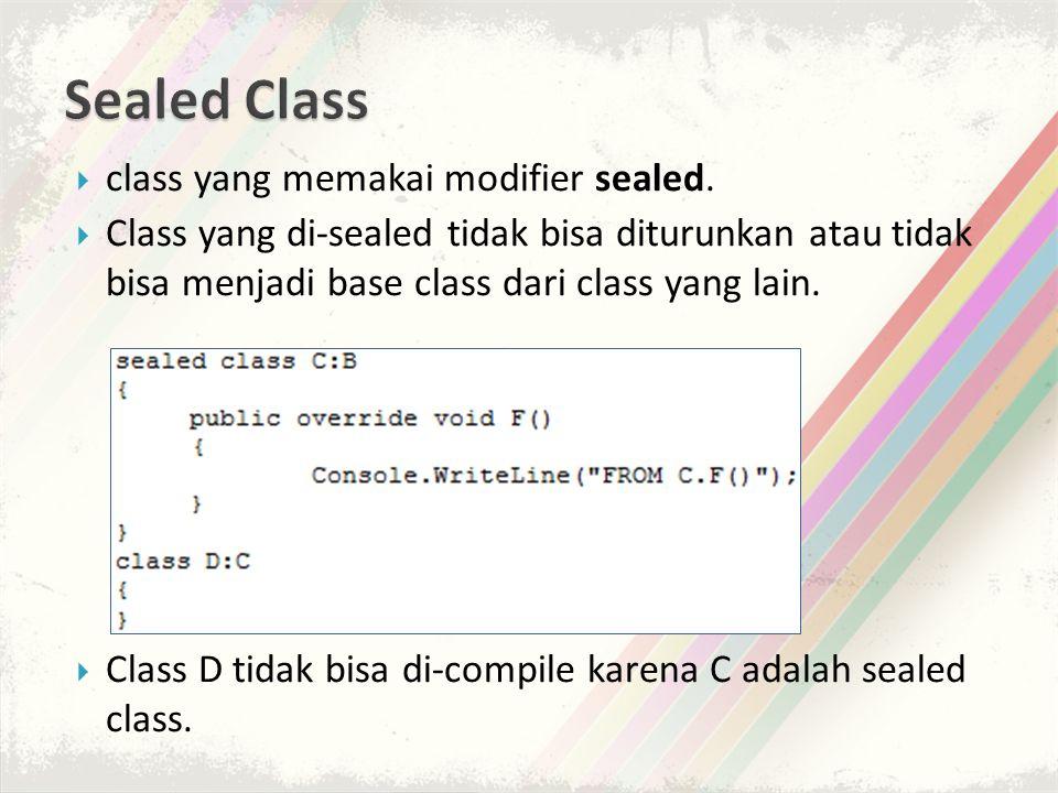  class yang memakai modifier sealed.